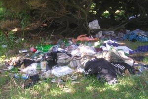 Smetisko pred blokmi. Asociáli si z čistoty prostredia ťažkú hlavu nerobia.