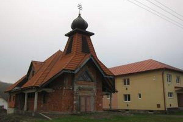 Chrám v Nižnom Orlíku. Čoskoro by mal byť dokončený a posvätený.