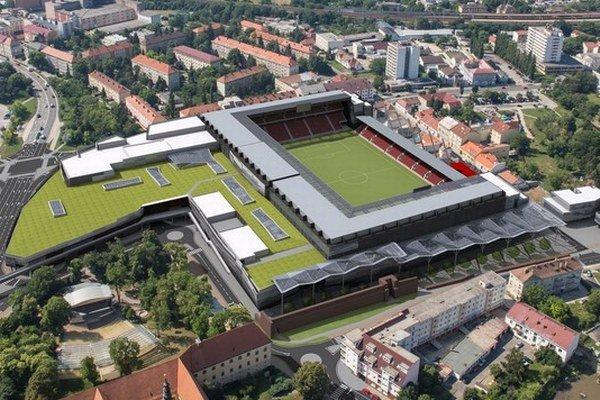 Takto má v roku 2015 vyzerať nový štadión v Trnave.
