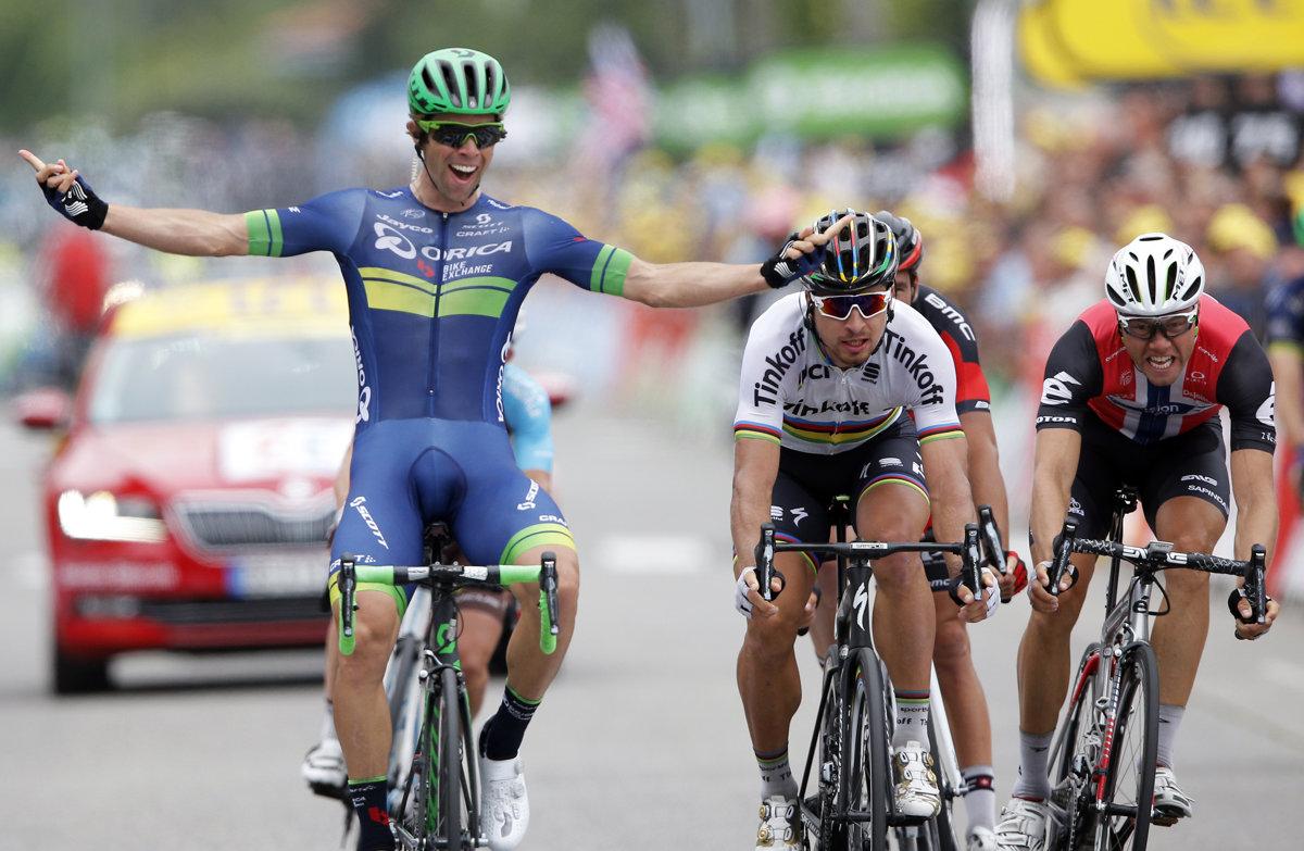 017801d4e68b7 Michael Matthews (vľavo) bude najväčším Saganovým konkurentom v boji o  zelený dres.