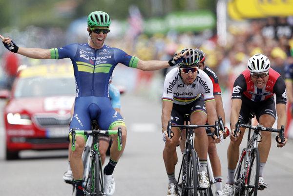 Michael Matthews (vľavo) bude najväčším Saganovým konkurentom v boji o zelený dres.