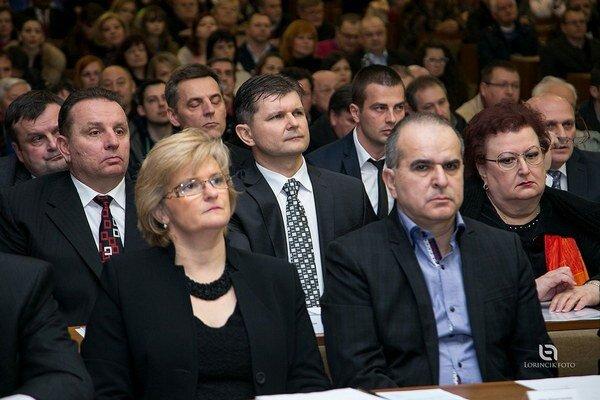 Trebišovskí poslanci prerušili rokovanie.