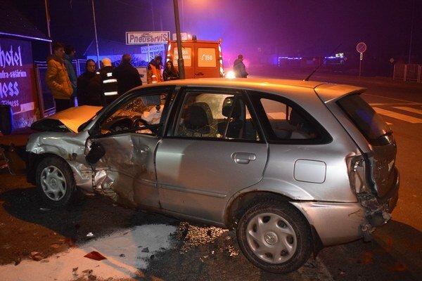 Nehoda v Rožňave. Vodič nedal prednosť.
