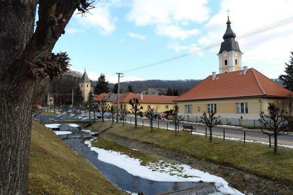 Centrum obce Betliar.