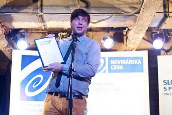 Pavel Graus dostal cenu za inovatívnu profesionálnu online žurnalistiku.