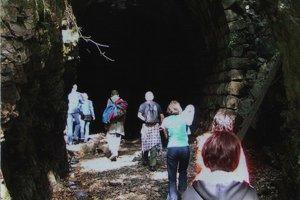 Tunel pod Homôlkou. Patrí k jedinečným technickým pamiatkam Gemera.