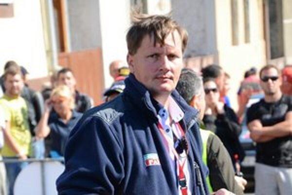 Riaditeľ Marcel Kollárik sa najviac zdržiaval v priestore štartu.