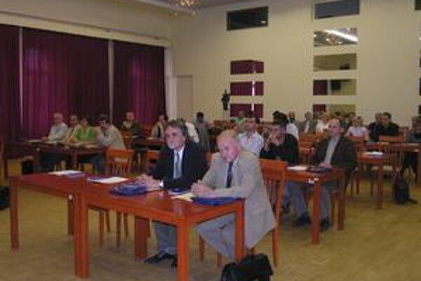 V kongresovej sále. Okrem predstaviteľov vlád sa tu zišlo 31 historikov.