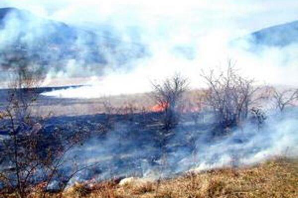 Vypaľovanie trávy. Je zakázané. Akékoľvek spaľovanie horľavých látok na voľnom priestranstve sú ľudia povinní hlásiť na OR HaZZ.