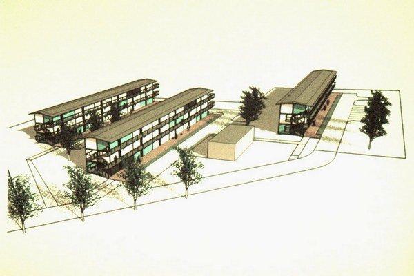 Vizualizácia projektu. Malé sídlisko bude mať približne 70 bytov.
