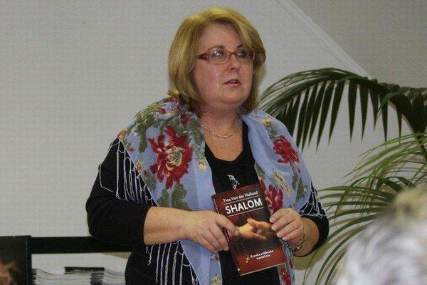 Tina van der Holland. Predstavila aj svoju poslednú knihu Shalom.