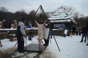 Tradičná zabíjačka. Z obcí severovýchodu sa vytráca fašiangová tradícia pri zabíjaní doma odchovaného prasaťa.