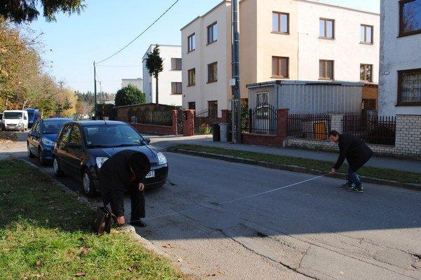Gaštanová ulica je úzka. Meria len 5,6 metra.