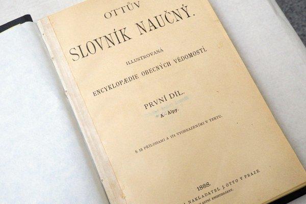 Najstaršia kniha. Ottův slovnik náučný, 1. diel,  rok vydania 1888