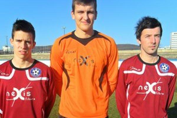 Trio zo štyroch. Zľava Dárius Popík, Jozef Brudňák a Marek Mihok.