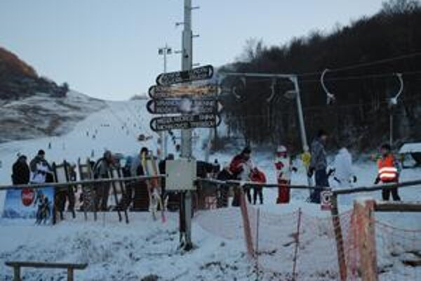 Lyžiarske stredisko Chlmec.