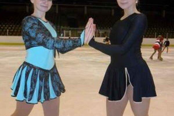 Krasokorčuliarky. Alexandra Gnipová (vľavo) a Kristína Babincová.