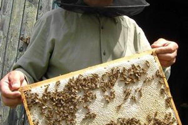 Pred úľom. Verí, že o rok bude znáška medu lepšia.