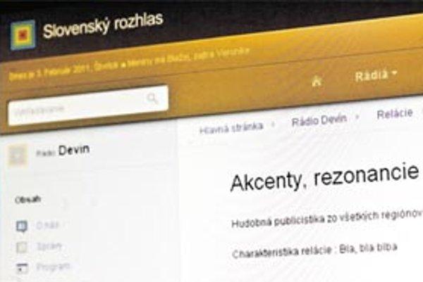 Nová stránka Slovenského rozhlasu podľa hovorkyne ešte nie je dobudovaná.