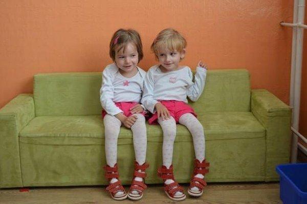 Kristínka aNatálka. Dvojičky sa narodili predčasne, už v31. týždni tehotenstva.