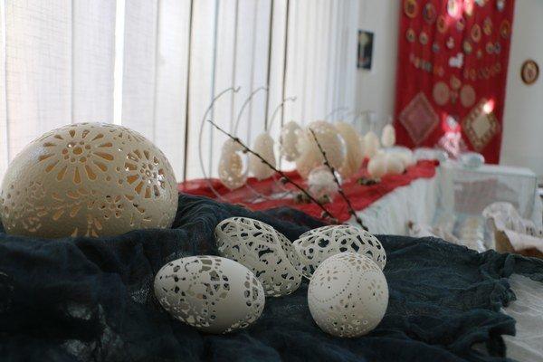 Cifrované vajíčka. Veľkonočná výstava vMichalovciach.
