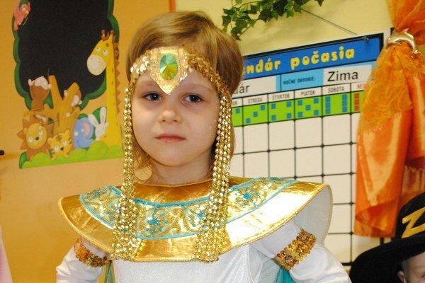 Kleopatra. Saška Vlčoková bola na pár hodín egyptskou kráľovnou.