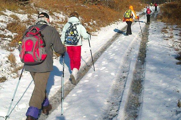 Výstup na Zaňovec. Patrí medzi tradičné obľúbené zimné podujatie michalovských turistov.