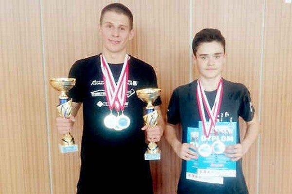 V poľskej Krynici sa im darilo. Michal Stričík (vľavo) a Ján Vaľovčík výborne reprezentovali svoje mesto aj krajinu.