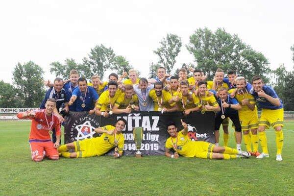 Tím MFK Zemplín Michalovce. Víťaz druhej najvyššej súťaže v sezóne 2014/15.