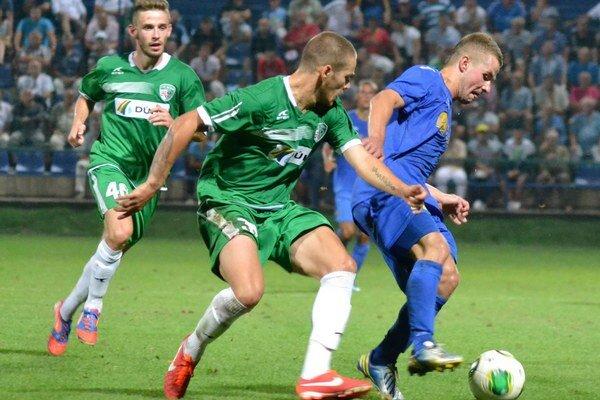 Prešovu robil veľké problémy. Dominik Kunca (vpravo) hral proti Tatranu výborne.