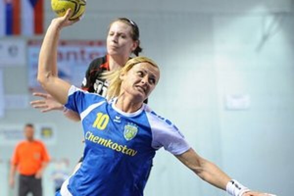 Najlepšia strelkyňa zápasu. Alžbeta Polláková vsietila osem gólov.