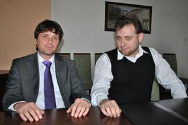 Partneri. Vladimír Skoupil (vľavo) a Igor Slyusarchuk.