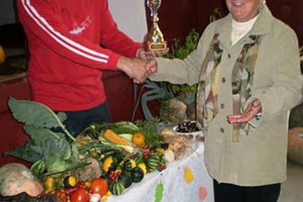 Víťazka súťaže. Pani Ivanková uspela v konkurencii pestovateľov.