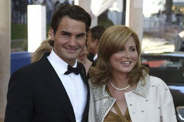 Tenista Roger Federer s manželkou Mirkou.