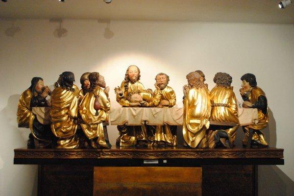 Posledná večera. Kópia originálu je vystavená vDome Majstra Pavla.