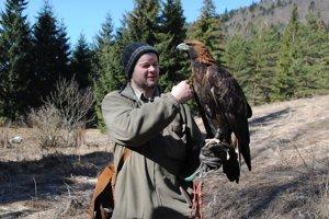 P. Mihuc s orlom skalným.