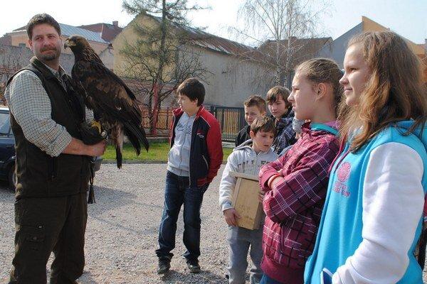 Orol Boris. Pútal najväčšiu pozornosť detí.
