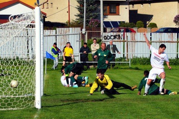 Prvý zo štyroch gólov Odorína proti Slovinkám strelil Juraj Čuj.