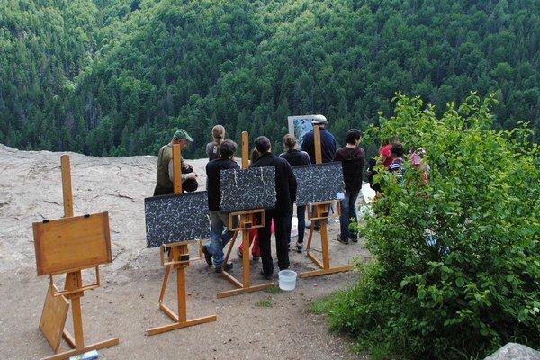 Tomašovský výhľad. Stretli sa tam maliari.
