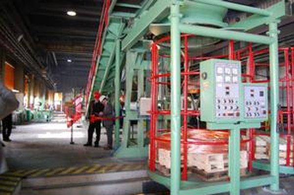 Drôtovňa. Zvýši svoju kapacitu na 50-tisíc ton medeného drôtu ročne.