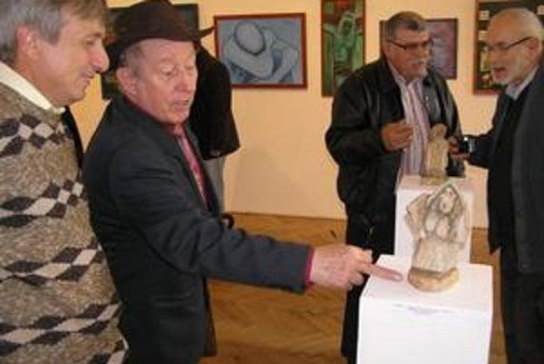Tibor Gurin. Jeho tvorba je ovplyvnená prácou baníka.