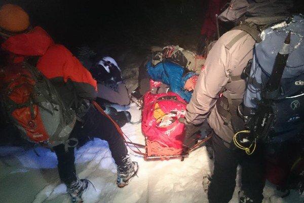 Záchranná akcia vo Veľkej Studenej doline.
