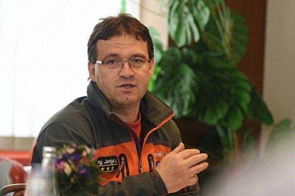 Šéf záchranárov Jozef Janiga.