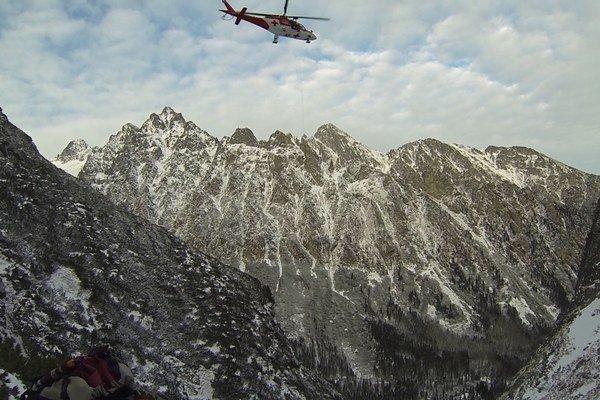 Zásah leteckých záchranárov.