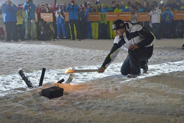 Olympijský medailista Pavol Hurajt počas slávnostného otvorenia Svetovej zimnej univerziády.
