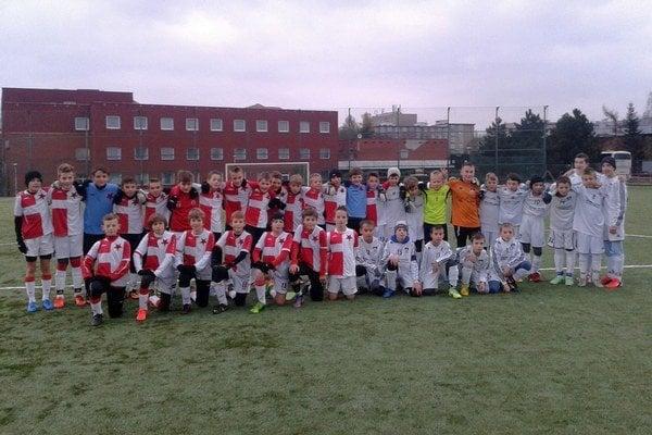 U12. FK Poprad a Slavia Praha.