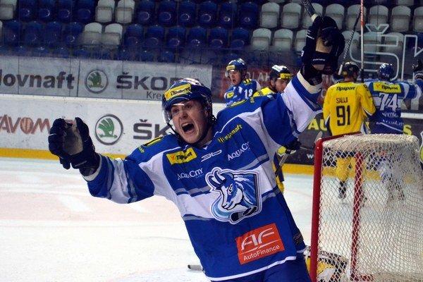 Gólová radosť. Mlynarovič zaznamenal desiaty presný zásah v sezóne.