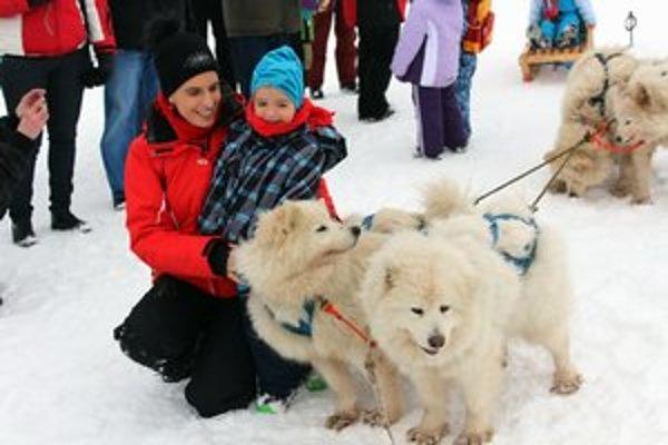 Snežným psom sa najviac potešili deti