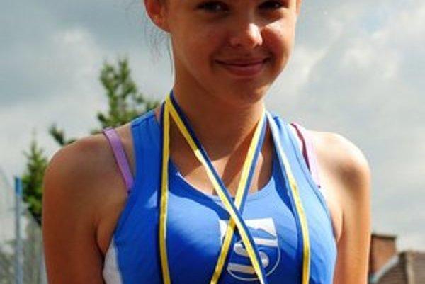 Lea Talpašová. Vyhrala beh na 100 m prekážok.
