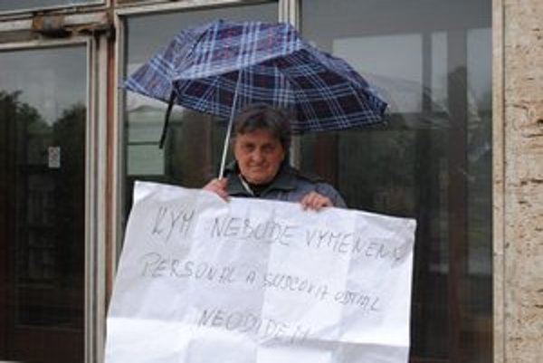 Mária Mačáková zo Ždiaru. Žiada zmenu personálneho obsadenia popradského súdu.